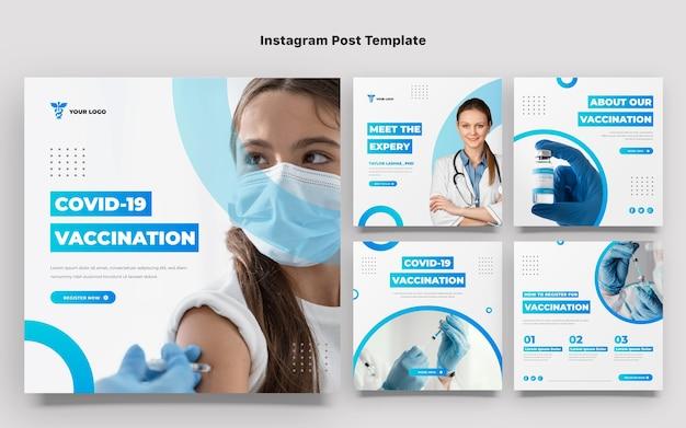 Modelo de post de instagram médico de gradiente