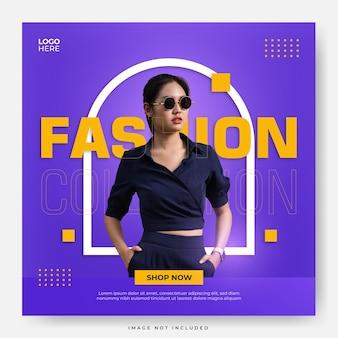 Modelo de postagem de coleção de moda em mídia social