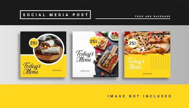 Modelo de postagem de comida de mídia social
