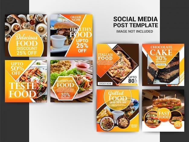Modelo de postagem de comida no instagram