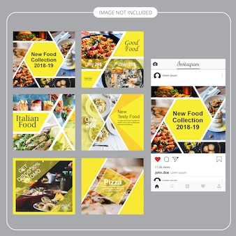 Modelo de postagem de comida social media