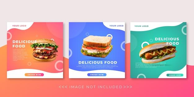Modelo de postagem de comida