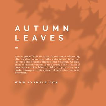 Modelo de postagem de cores de outono em mídias sociais