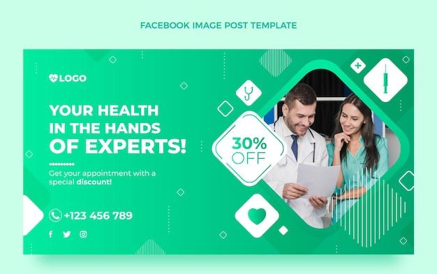 Modelo de postagem de gradiente de mídia social médica