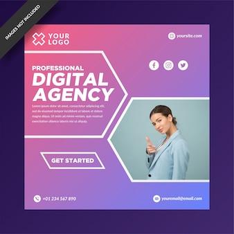 Modelo de postagem de instagram da agência digital moderna