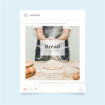 Modelo de postagem de instagram de alimentos