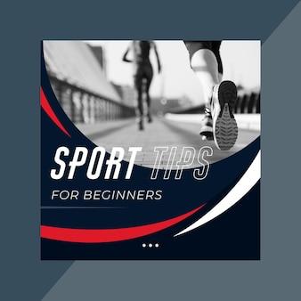 Modelo de postagem de instagram de esporte