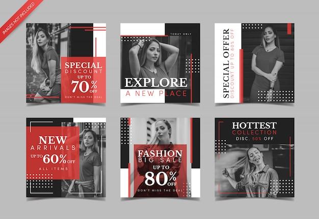 Modelo de postagem de instagram de venda de moda