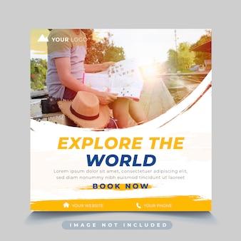Modelo de postagem de instagram de viagens