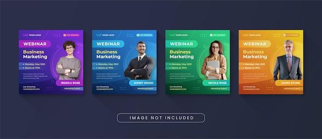 Modelo de postagem de instagram de webinar de marketing empresarial para mídia social