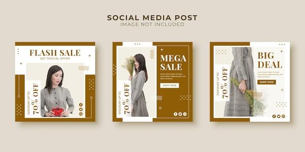 Modelo de postagem de mega venda em mídia social