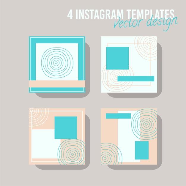 Modelo de postagem de mídia social colorida, para loja e moda. conceito geométrico minimalista.