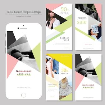 Modelo de postagem de mídia social com desconto de produto criativo