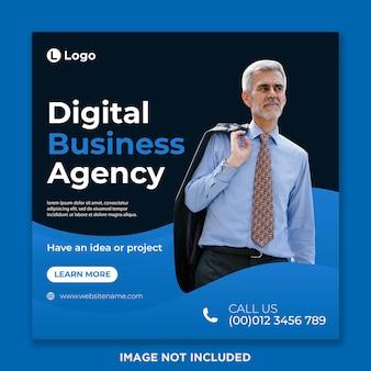 Modelo de postagem de mídia social da agência de negócios digitais