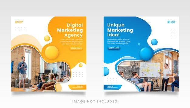 Modelo de postagem de mídia social de agência de marketing digital