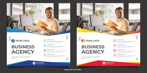 Modelo de postagem de mídia social de agência digital