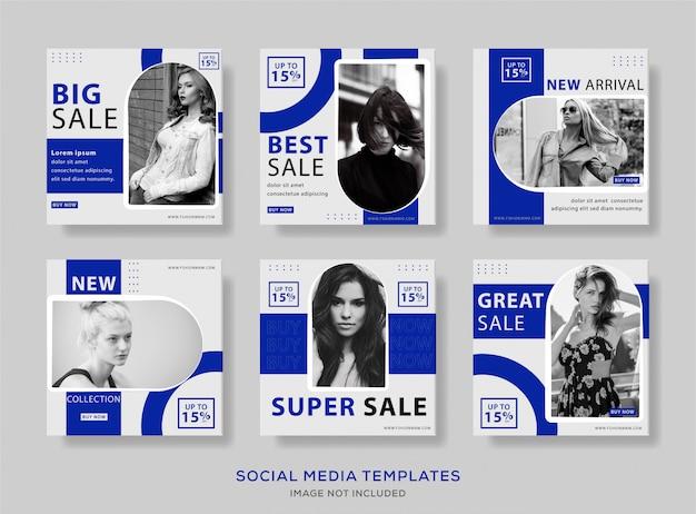 Modelo de postagem de mídia social de banner minimalista