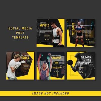 Modelo de postagem de mídia social de esporte
