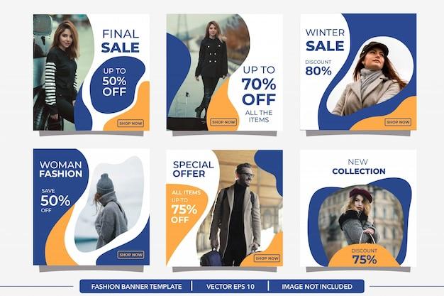 Modelo de postagem de mídia social de inverno minimalista