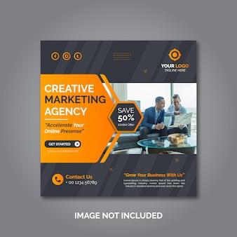 Modelo de postagem de mídia social de marketing de negócios criativos