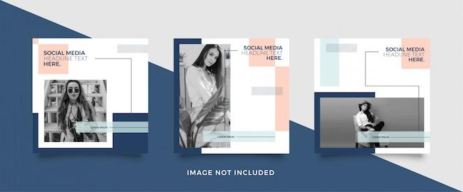 Modelo de postagem de mídia social de moda minimalista