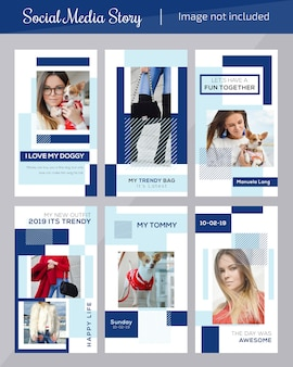 Modelo de postagem de mídia social de moda para marketing