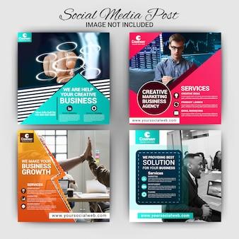 Modelo de postagem de mídia social de negócios
