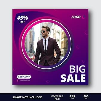 Modelo de postagem de mídia social de oferta de venda