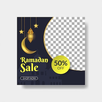 Modelo de postagem de mídia social de ramadan kareem