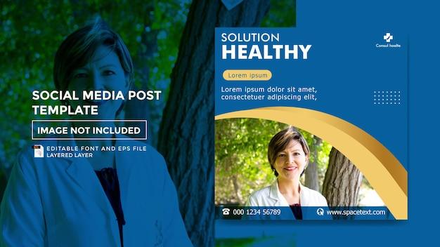 Modelo de postagem de mídia social de tema saúde