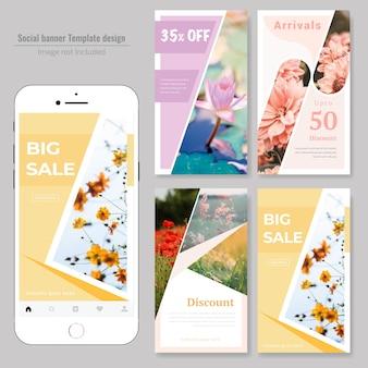 Modelo de postagem de mídia social de venda de produtos