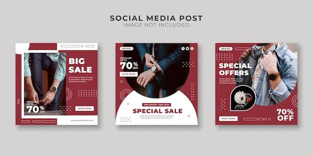 Modelo de postagem de mídia social de venda especial