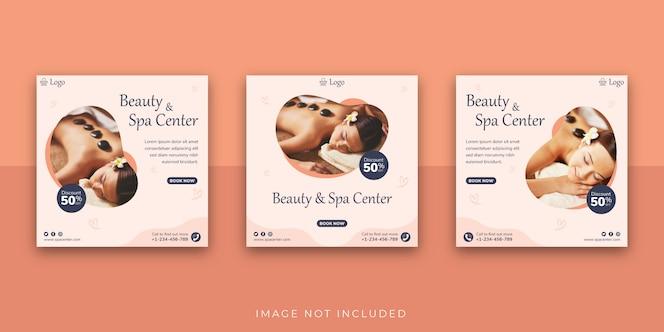 modelo de postagem de mídia social do beauty & spa center
