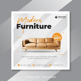 Modelo de postagem de mídia social do furniture