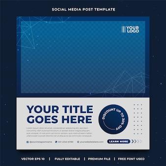 Modelo de postagem de mídia social do galaxy moderno