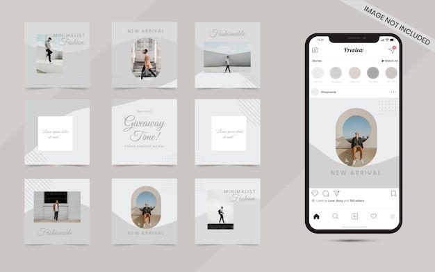 Modelo de postagem de mídia social minimalista orgânica