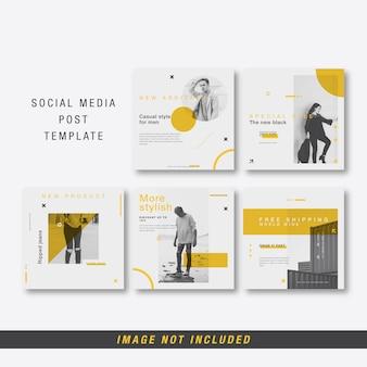 Modelo de postagem de mídia social minimalista