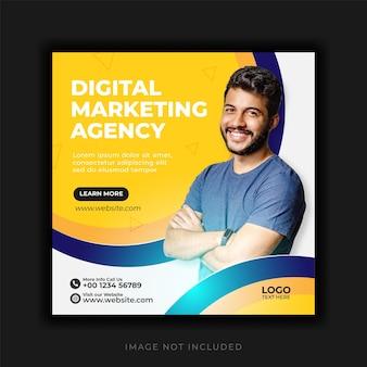 Modelo de postagem de mídia social para agência de marketing de negócios digitais