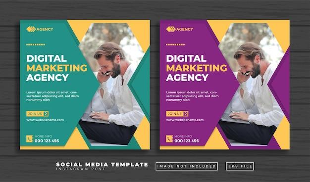 Modelo de postagem de mídia social para agência de marketing digital