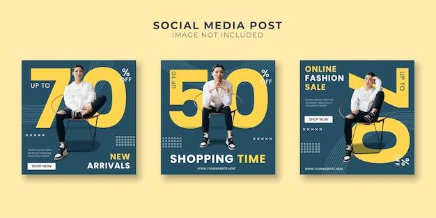 Modelo de postagem de mídia social para hora de compras