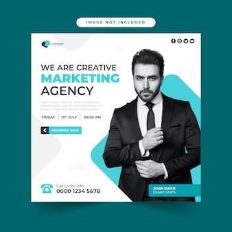Modelo de postagem de mídia social para webinar de marketing digital ao vivo