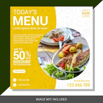 Modelo de postagem de mídias sociais culinárias