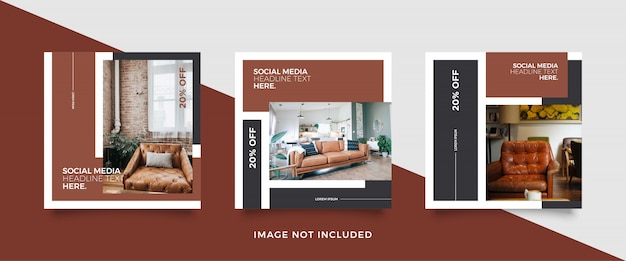 Modelo de postagem de mídias sociais de móveis