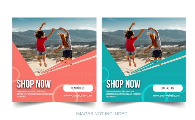 Modelo de postagem de promoção de mídia social