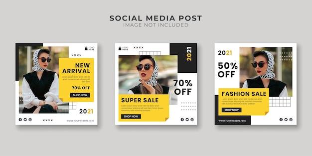 Modelo de postagem de super venda em mídia social