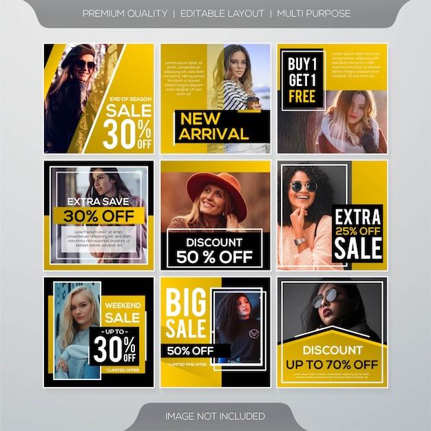 Modelo de postagem de venda de mídia social