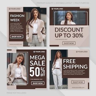 Modelo de postagem de venda de moda minimalista