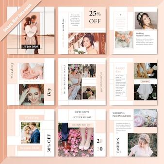 Modelo de postagem de venda de produto de mídia social de moda