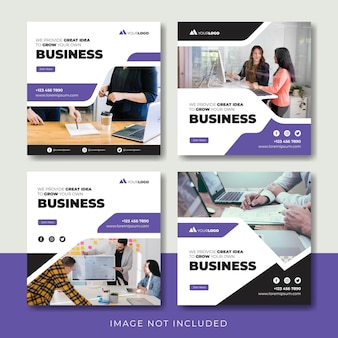 Modelo de postagem do creative business instagram