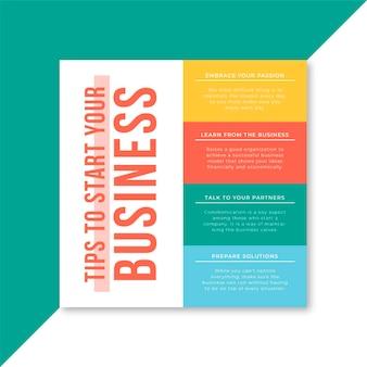 Modelo de postagem do facebook para negócios